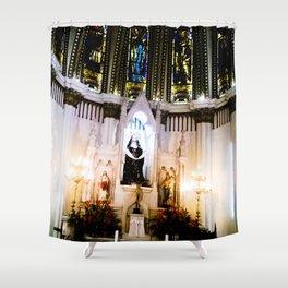 The shrine of the church. Shower Curtain