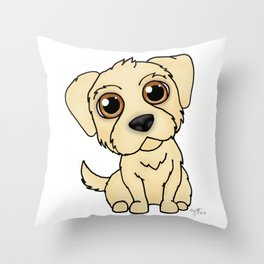 Golden Retreiver Dog Throw Pillow