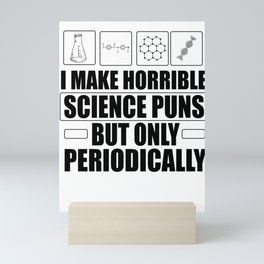 Nerds pun chemical elements gifts Mini Art Print