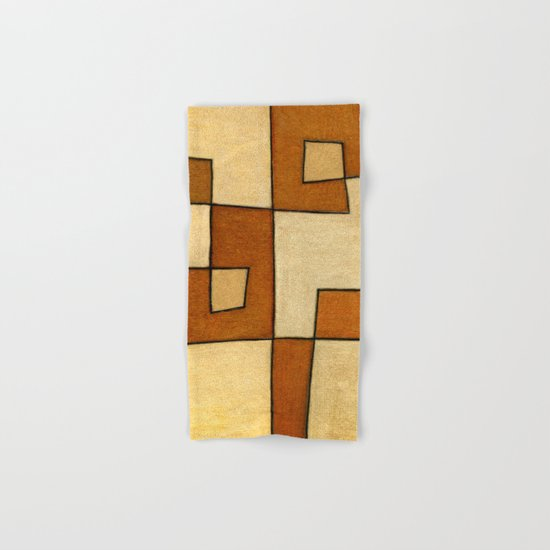 Protoglifo 01 'brown yell' Hand & Bath Towel