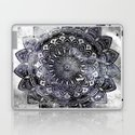 Galaxy Space Mandala (Black and White & Gray Scale) Mystical Adventurous by aej_design