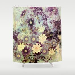 Cosmos and textures Shower Curtain