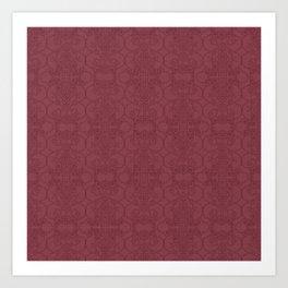 Rasberry Vertical Lace Art Print