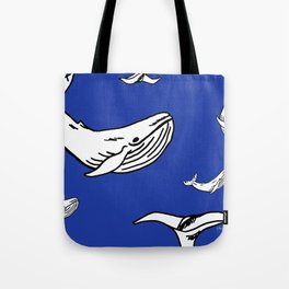 White Whales Tote Bag