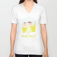 dmmd V-neck T-shirts featuring The Yellow Robot by Collette Ren
