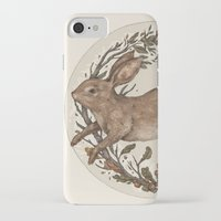 rabbit iPhone & iPod Cases featuring Rabbit by Jessica Roux