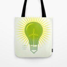 Bright Green Ideas Tote Bag