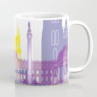 brussels Mugs featuring Brussels skyline pop by Paulrommer