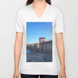 Medieval Castle Unisex V-Neck