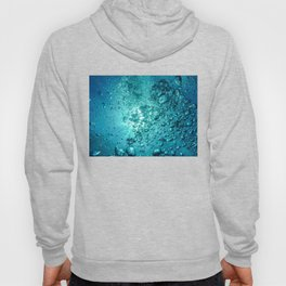 Air Bubbles Under Water Hoody