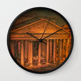 The Ancient Pantheon in Rome Wall Clock