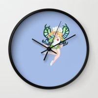 mercedes Wall Clocks featuring Mercedes by wattleseeds