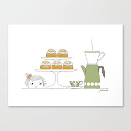 Fika with Semlor Canvas Print