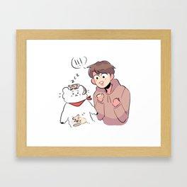 rj meets some new friends! Framed Art Print