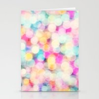 Stationery Cards featuring Drops of Rainbow by Sharon Johnstone