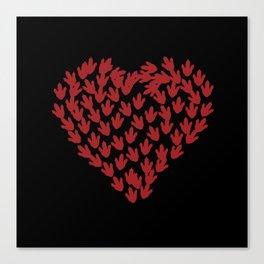 Clawed Heart Canvas Print