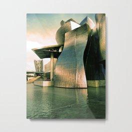 The Guggenheim in Bilbao, Spain. Metal Print
