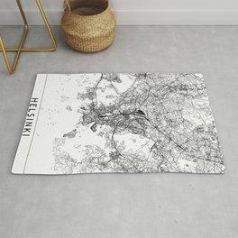 Helsinki White Map Rug