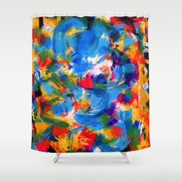 Abstract pattern colored Shower Curtain