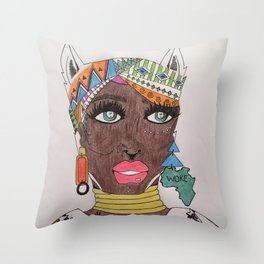 The Black Panther is Female Throw Pillow