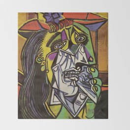 THE WEEPING WOMAN - PICASSO Throw Blanket