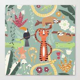 Rain forest animals 001 Canvas Print