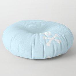 SKULL - LIGHT BLUE & WHITE Floor Pillow