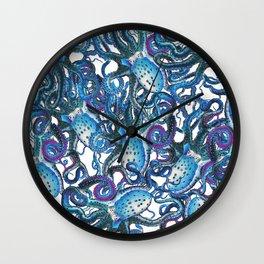 Riptide_blue Wall Clock