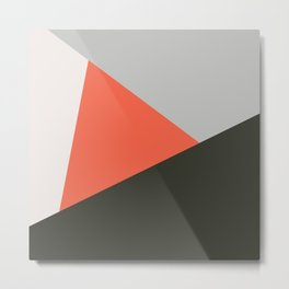 Retro Abstract Triangles 15 Metal Print