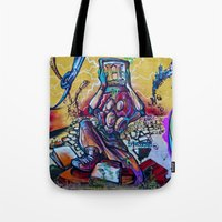 history Tote Bags featuring History by Roberto Pagani