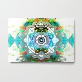 Atmospheric Mandala 0354 Metal Print