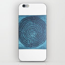 Floral Labyrinth Collagraph iPhone Skin