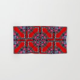 no. 165 pink red black and white pattern Hand & Bath Towel