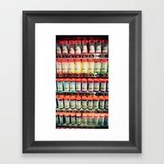 Pantone Shelf Framed Art Print