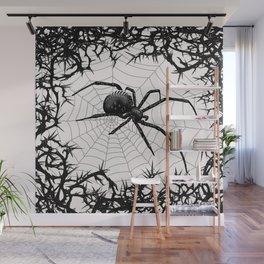 Briar Web- Black and White Wall Mural