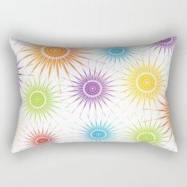 Colorful Christmas snowflakes pattern- holiday season gifts Rectangular Pillow