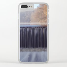 misty sunrise waterfall Clear iPhone Case
