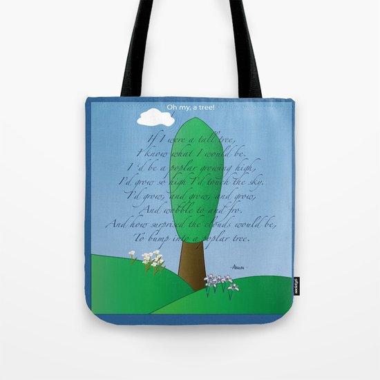 Poplar Tree Poem Tote Bag