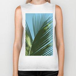 Palm Leaf Abstract Biker Tank