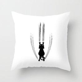 Scratching Cat Throw Pillow