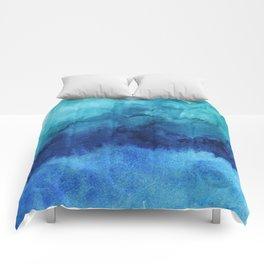 Blue Life Watercolor Comforters