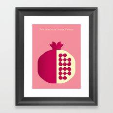 Fruit: Pomegranate Framed Art Print