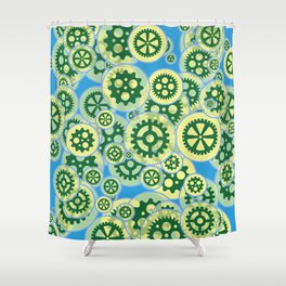 Gearwheels Shower Curtain