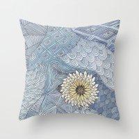 daisy Throw Pillows featuring Daisy by sinonelineman