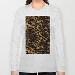 Gold and black metal tiger skin Long Sleeve T-shirt