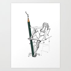 what a big pencil you have Art Print