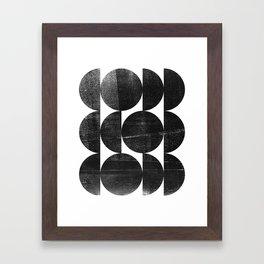 Black and White Mid Century Modern Op Art Framed Art Print