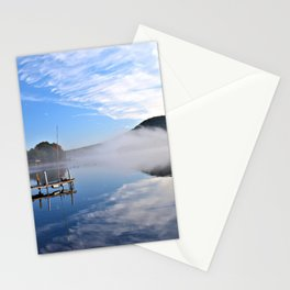 October Morning: Mergansers and Mist Stationery Cards