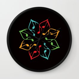 Music Flower Wall Clock