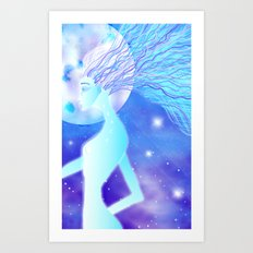 Blue Star Being Art Print